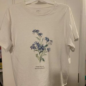 "BRANDY MELVILLE - ""Forget Me Nots"" T-Shirt"